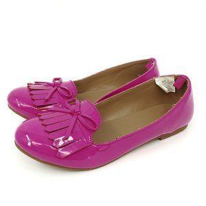 Gymboree Hot Pink Faux Patent Bow Flats
